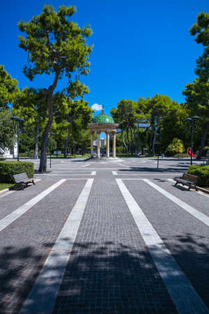 The public gardens of Giuseppe Garibaldi in Lecce, Italy