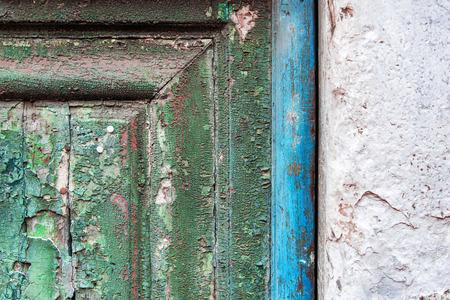 old door with craked paint Stock fotó