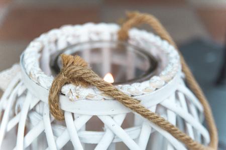 white garden candle