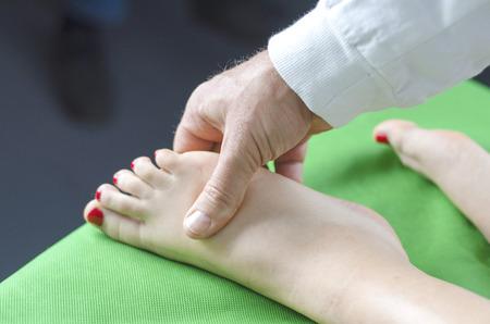 foot massage doctor and patient Stock fotó