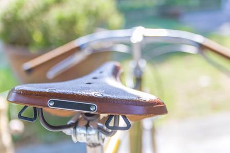 brown leather saddle Stock fotó