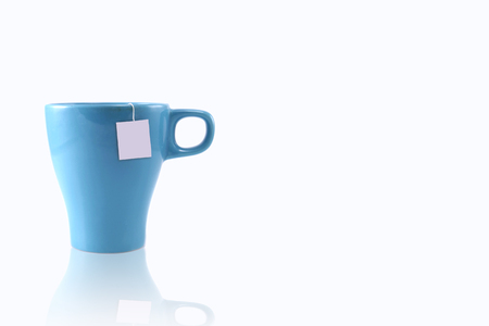 blue cup on left