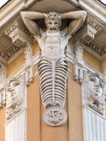 lucifer: Lucifer on an Italian facade