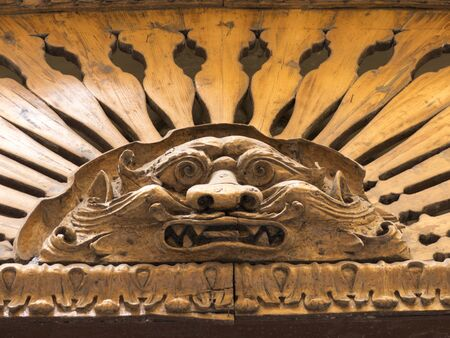a particular from a facade in old taranto, in the south of italy