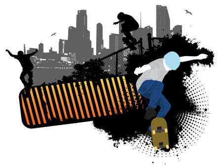 teenagers only: Street skaters