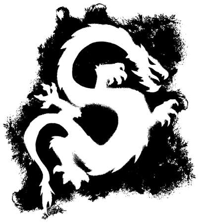tatouage dragon: Dragon grunge