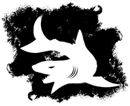 back lit: Grunge Shark