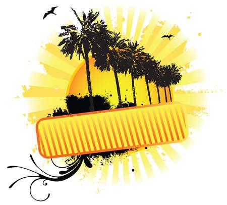 Summer Banner Ilustração