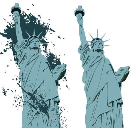 back lit: Estatua de la Libertad