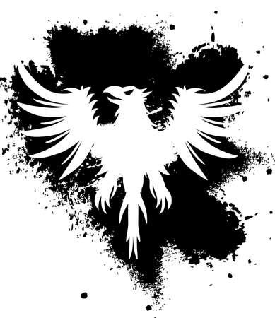 Zwarte en witte adelaar Stock Illustratie