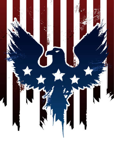 patriotic usa: Grunge American Eagle