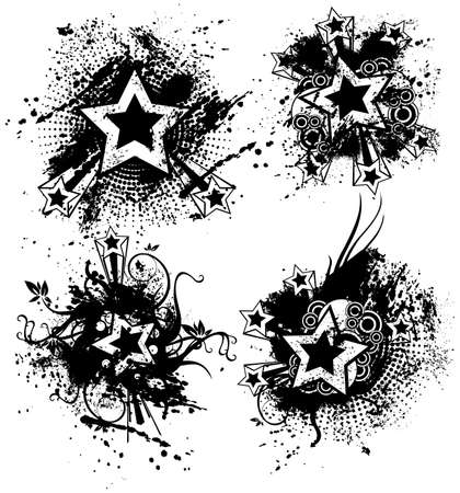 Grunge Stars Illustration