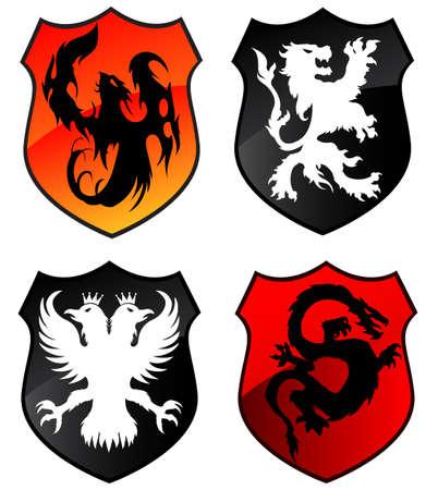 Heraldy shields