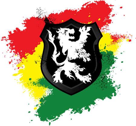 rastafarian: Lion rastafari shield