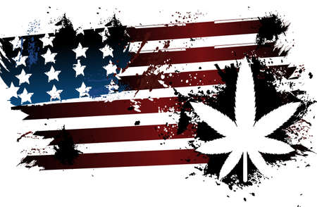 marihuana: La marihuana de la bandera americana Vectores