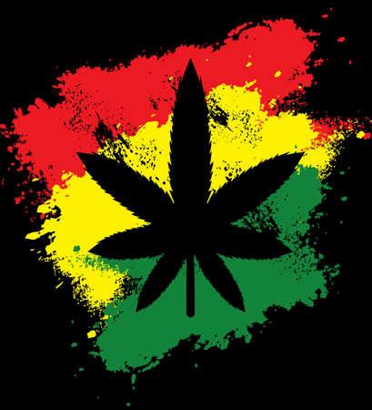 Marijuana grunge  イラスト・ベクター素材