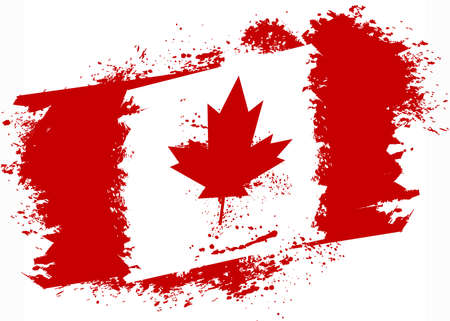 canadian flag: Canadian grunge flag