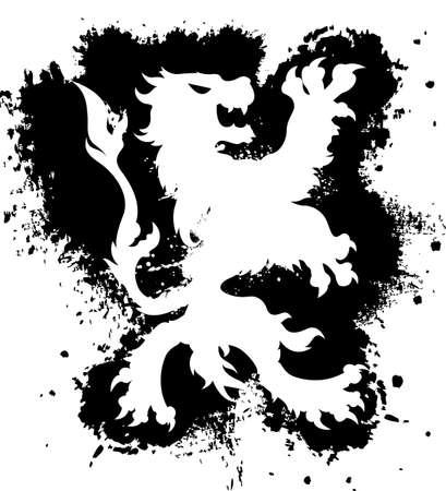 character traits: Lion Grunge Illustration