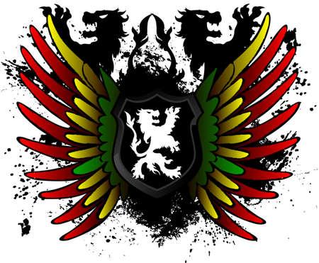 rastafarian: Rastafarian lion shield