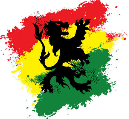 reggae: Rasta Lion Illustration