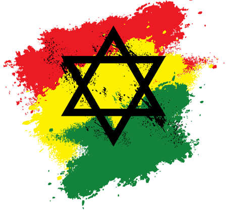 Rastafari Star of David Splash Vector