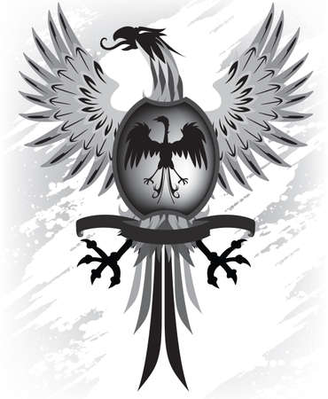 Phoenix shield Illustration
