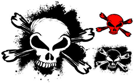 skulls grunge