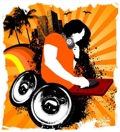 Party beach DJ mixing