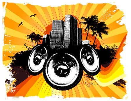 Grunge Orange City