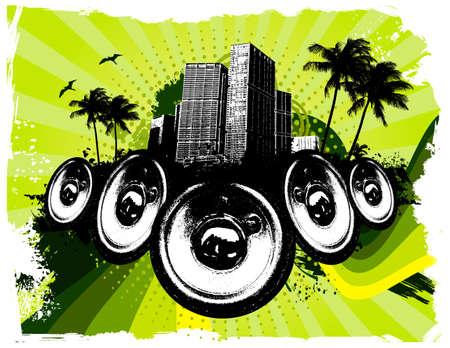 Grunge Green City