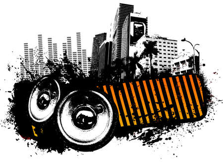 urban life: Grunge speaker city music