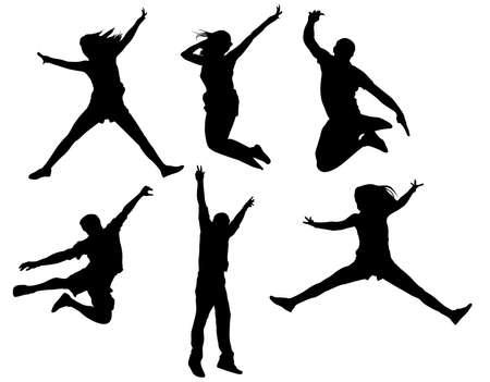 Mensen springen