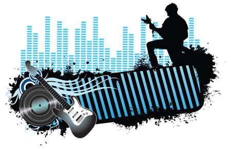 Rock banner concept illustration