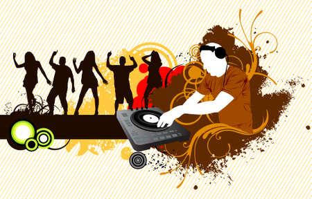 DJ Party concept illustration