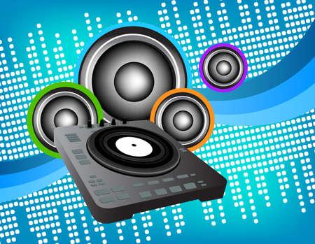 DJ 스피커 배경 스톡 콘텐츠 - 25529263