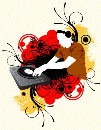 Dj Mixing Illustration