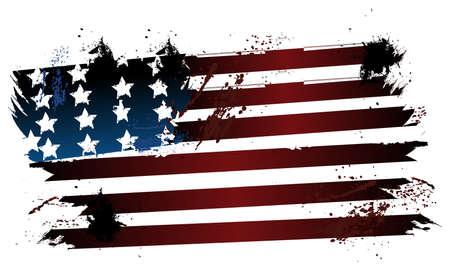 Amerikanische Grunge-Flag Standard-Bild - 25529316
