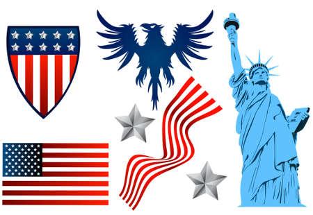American set Vector