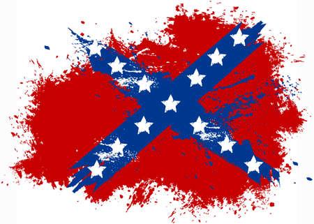 confederation: Confederation grunge flag
