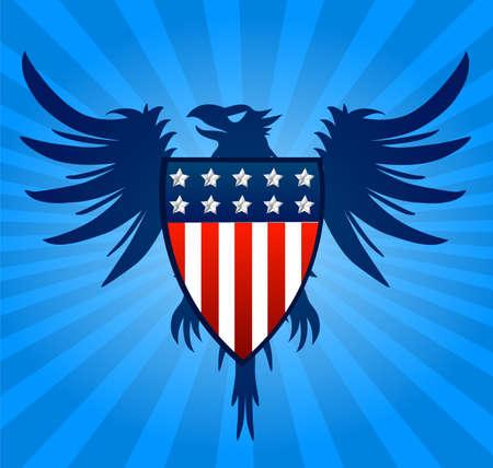 republican party: Eagle blue background