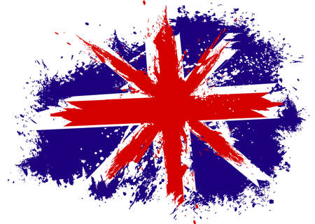 english culture: Britain flag grunge Illustration