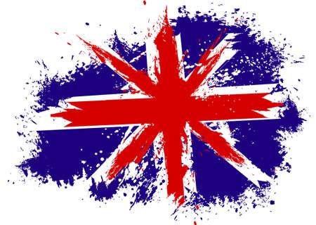 bandera de gran breta�a: Gran Breta�a bandera del grunge