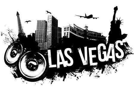 Las Vegas city music banner  Vector