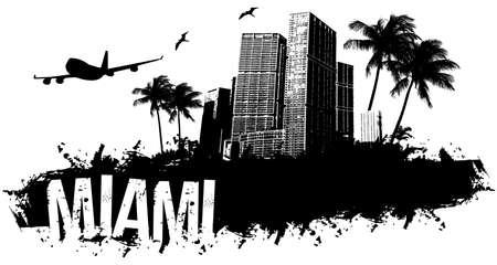 Miami beach banner black
