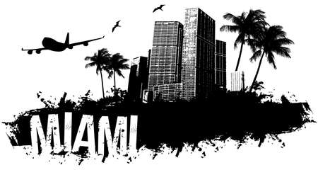 Miami beach banner black