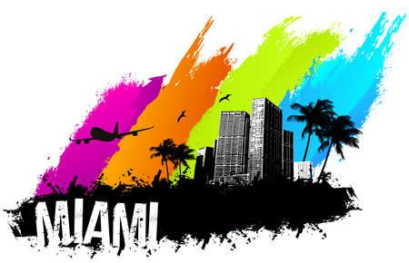 Miami beach summer banner
