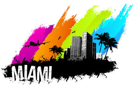 Miami beach zomer banner