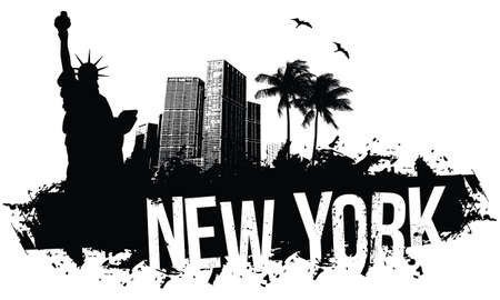 New York black Banners  イラスト・ベクター素材