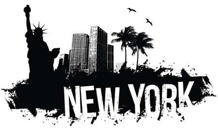 New York zwart Banners
