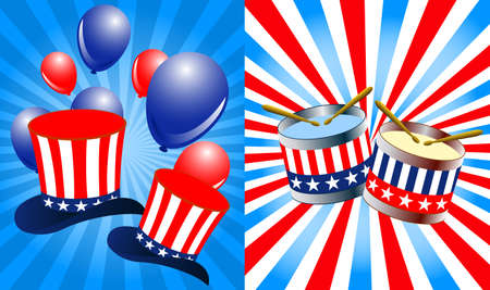 political rally: President day background Illustration